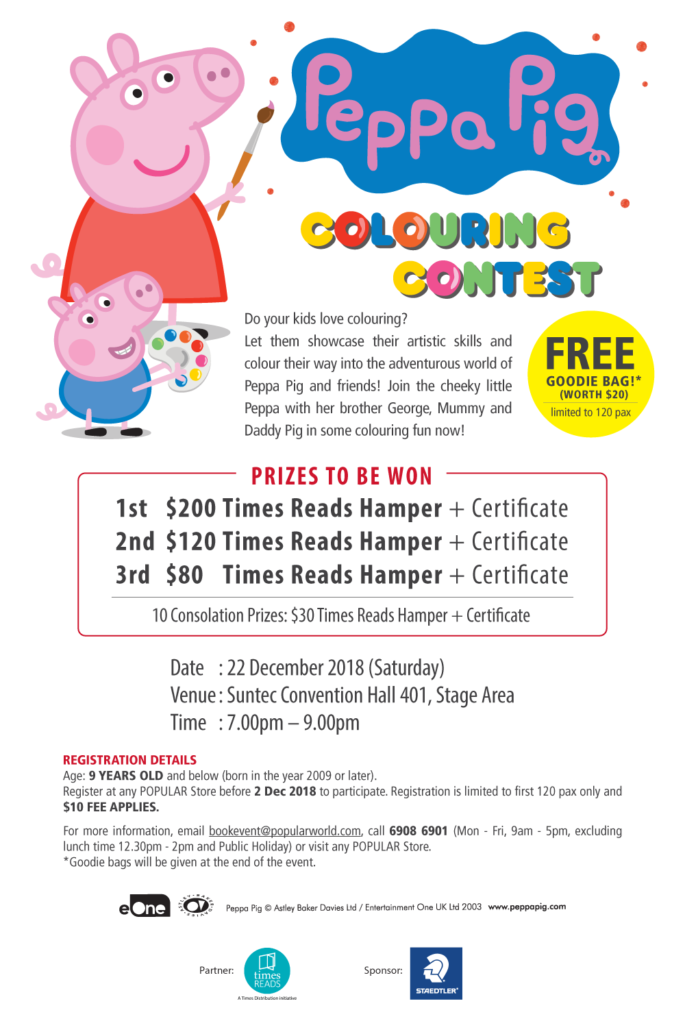 BookFest@Singapore 2018 :: Peppa Pig Colouring Contest