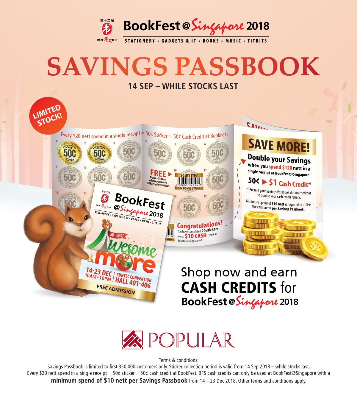 BookFest@ Singapore 2018 - Savings Passbook