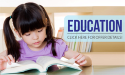 Education | Click here for offer details